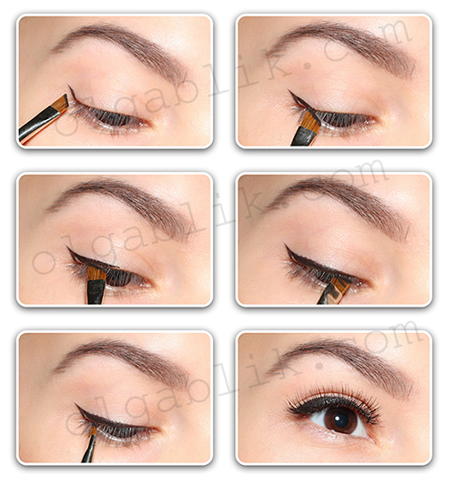 Как рисовать стрелки на глазах пошагово