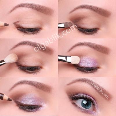 Какие выбрать тени для голубых глаз