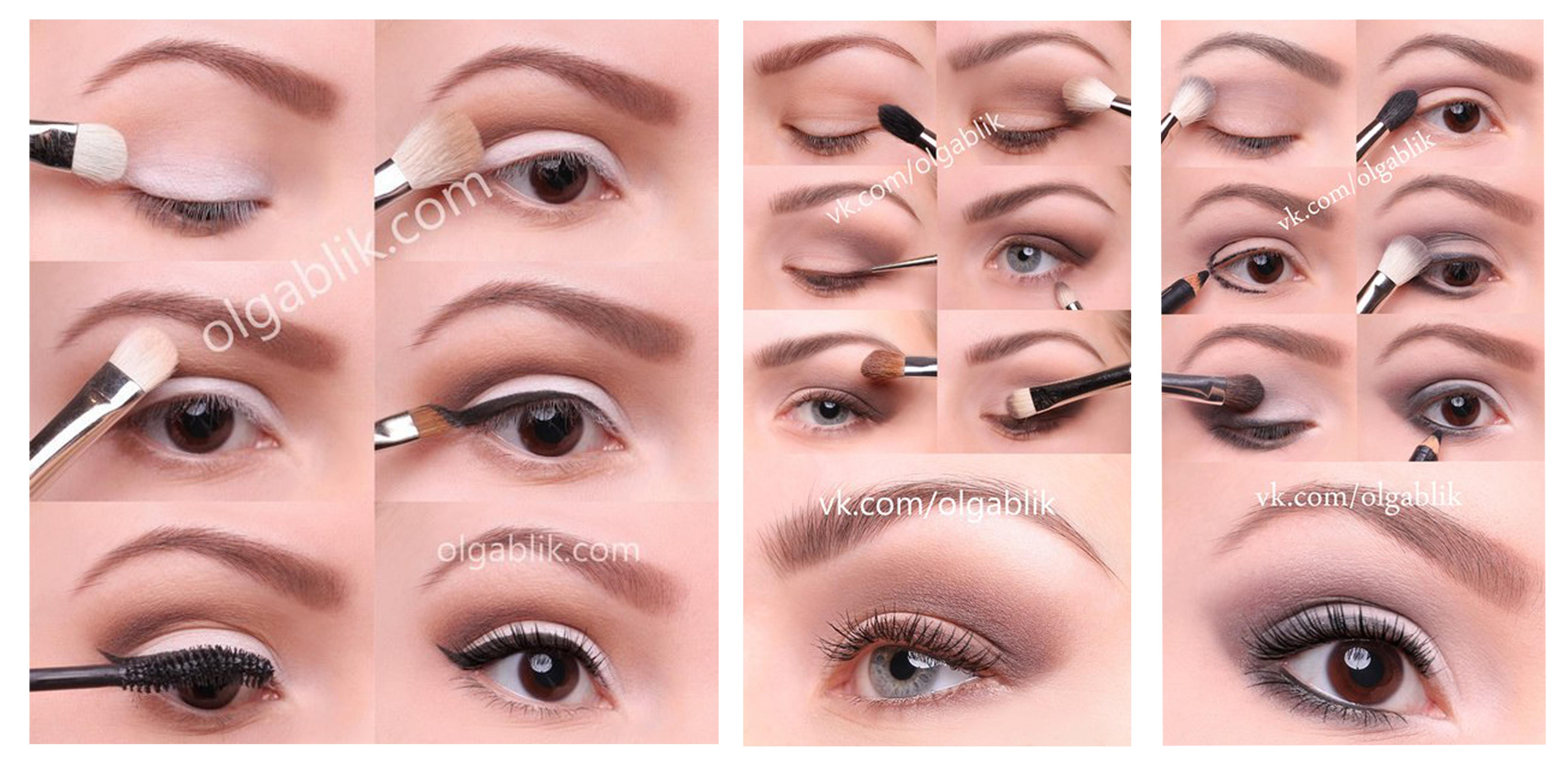 Как сделать самой макияж глаз фото