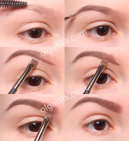 как красить брови карандашом пошаговая инструкция фото - фото 8