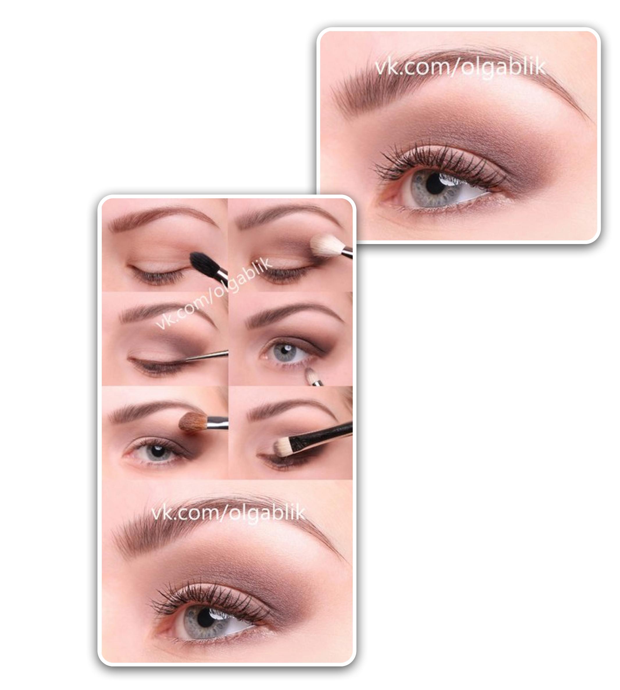 Правильный макияж для карих глаз - пошагово