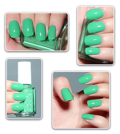 Зеленый лак для ногтей Essie