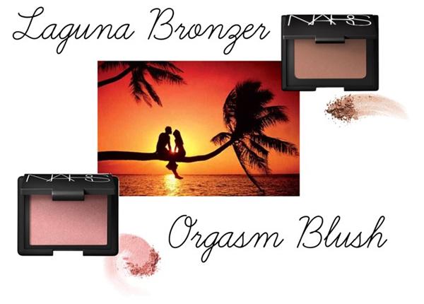 NARS Orgasm Blush и  NARS Laguna Bronzer