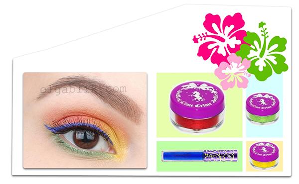Летний цветной макияж глаз - пошаговый фото-урок