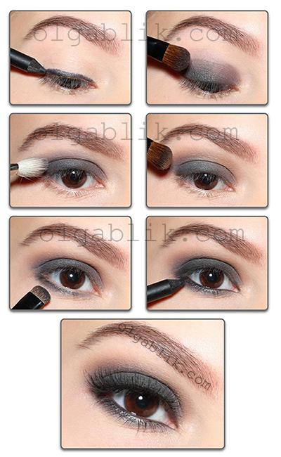 макияж smoky eyes пошаговая