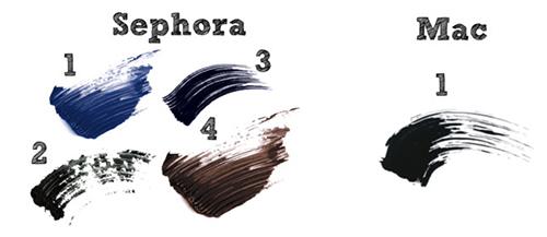 тушь Mac Mascara X и тушь Sephora Lash Plumper