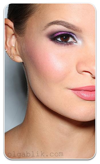 Фиолетовый макияж для карих глаз - фото - урок пошагово и поэтапно