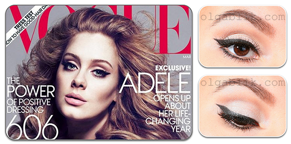 Adele Cover of Vogue Makeup