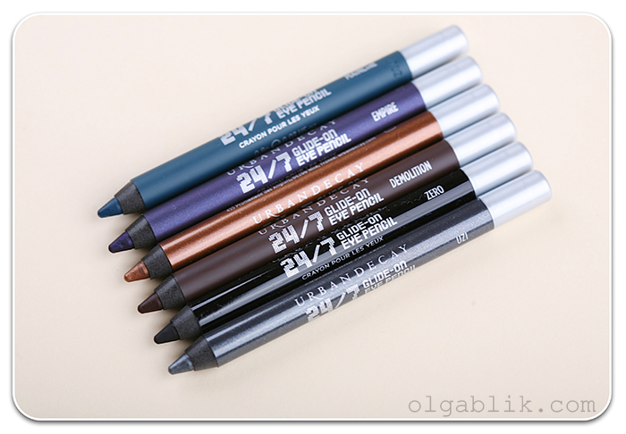 карандаши Urban Decay Smoked 24/7 Glide-On Eye Pencil Set