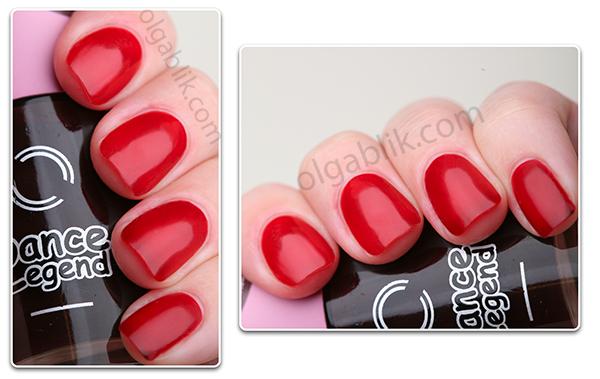 Dance Legend — лак для ногтей Termo - фото красного цвета
