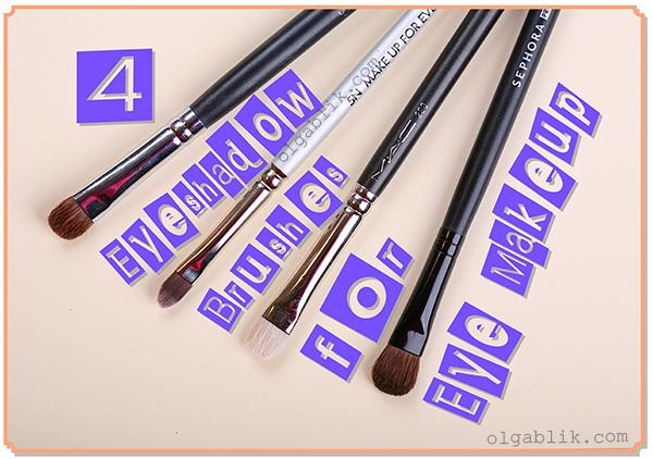 кисти для макияжа MAC #239, Make Up For Ever #5, Sigma E55, Sephora Classic Brush - Small #22