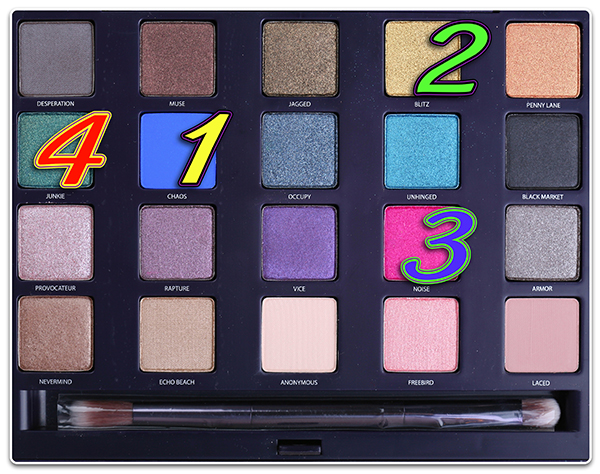 палетка Urban Decay Eyeshadow Palette makeup