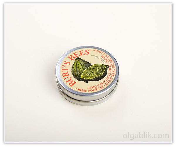 масло крем для кутикулы Burt's Bees Lemon Butter Cuticle Cream