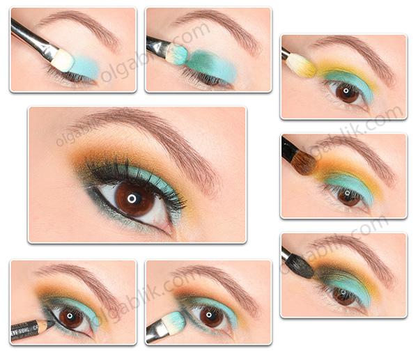 пошаговый макияж makeup tutorial Lime Crime China Doll Eye Shadow Palette