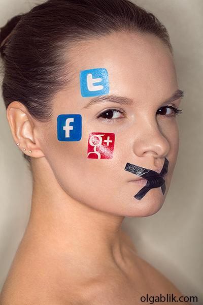 Креативный макияж: социальные сети