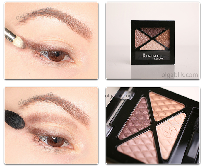 тени Rimmel Glam Eyes Quad 002 Smokey Brun