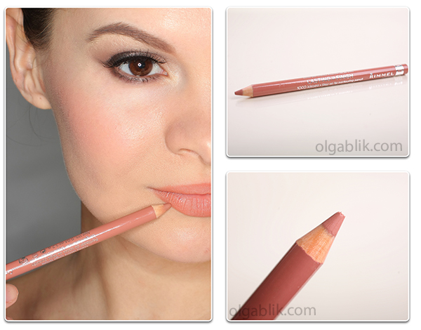 карандаш для губ Rimmel Lasting Finish 1000 Kisses Lipliner Pencil Natural