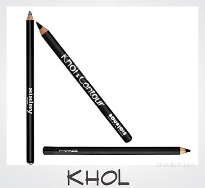 MAC Eye Kohl Sisley Phyto-Khol Star Bourjois Khol & Contour Eyeliner Pencil