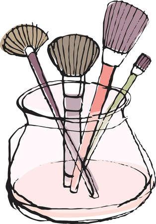 Кисти и косметика для визажиста