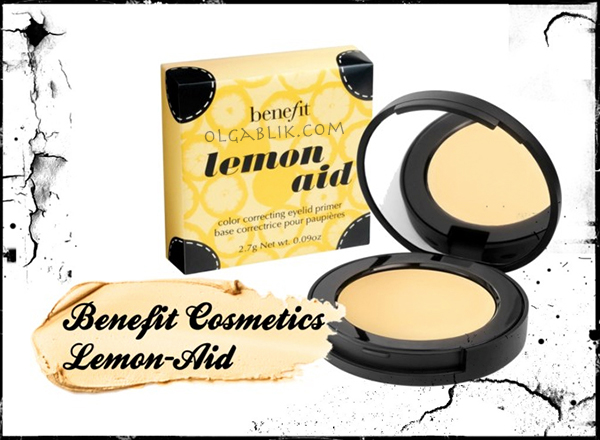 корректор база Benefit Lemon aid Color correcting eyelid primer corrector review makeup