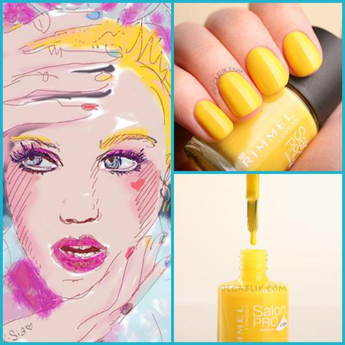 Лак для ногтей Rimmel London - Spring Yellow