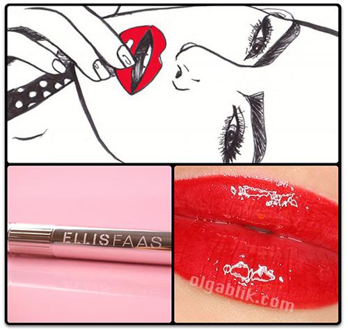 губная помада жидкая ELLIS FAAS Glazed Lips L303 Swatches,Review
