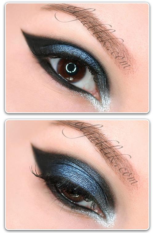 Вечерний графичный макияж глаз