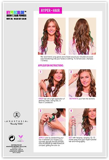 Anastasia Beverly Hills Hypercolor Brow and Hair Powder цветная пудра для волос отзывы