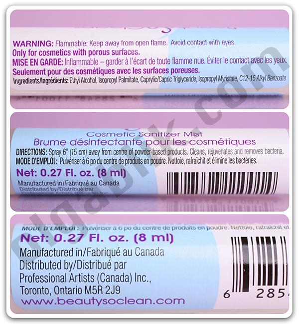 Спрей для дезинфекции косметики BeautySoClean Cosmetic Sanitizer Mist