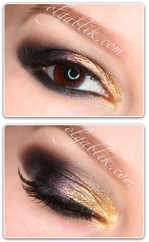 Golden Smokey Eye makeup – Step by step tutorial. - Olga Blik