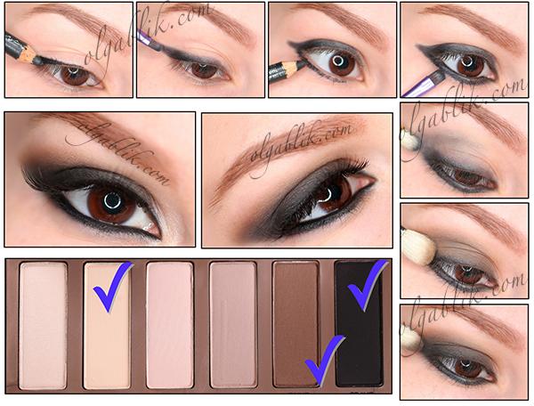 Smoky Eyes, Urban Decay Basics Palette Makeup Tutorial, пошаговый макияж, уроки макияжа.