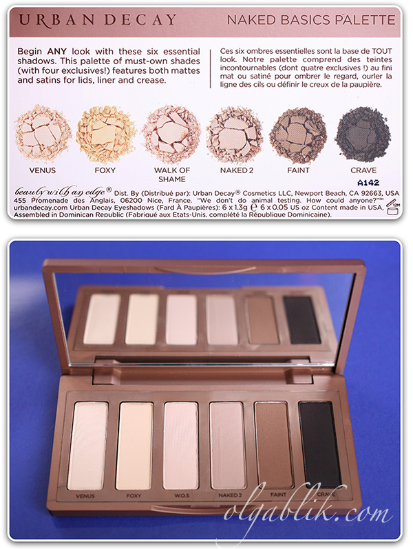 Тени Urban Decay Naked Basics Eyeshadow Palette Review, Photos, Swatches, Отзывы
