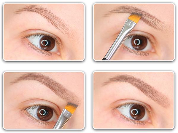 Как нарисовать брови обычными тенями