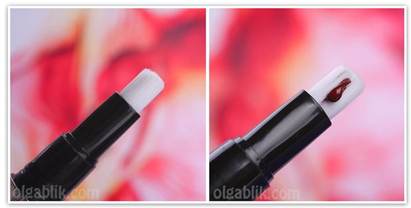 Ellis Faas Milky Lips L201 Ellis Red, Блеск для губ, Swatches, Review, Photo