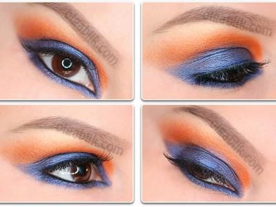 Пошаговый макияж глаз «Контраст».