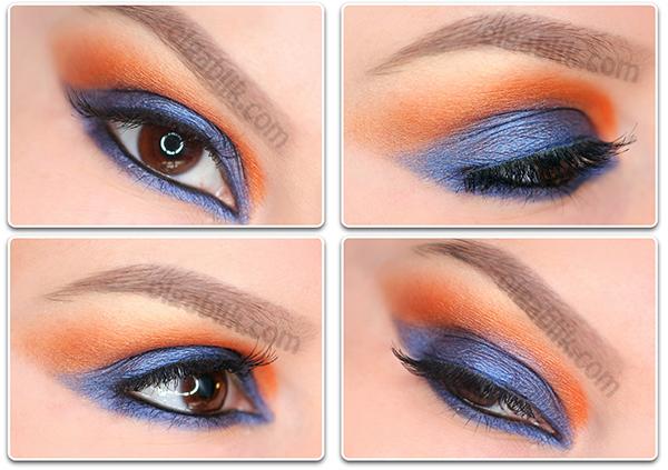 Как сделать контрастный макияж глаз