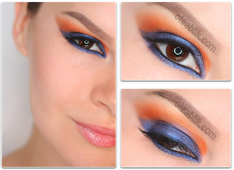 цветовые контрасты в макияже глаз