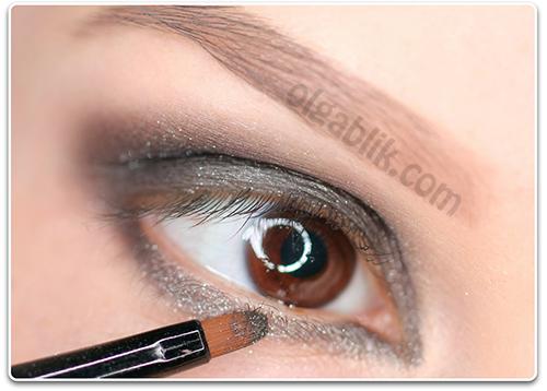Как сделать макияж одним цветом теней