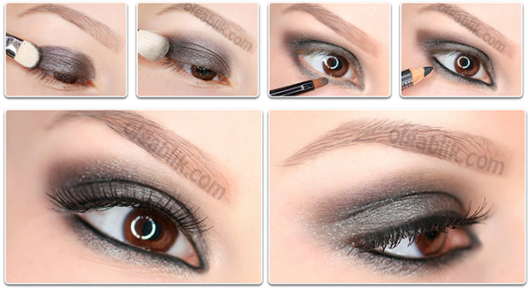 Eye makeup smokey eyes