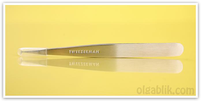 Точечный пинцет для бровей Tweezerman Point Tweezer