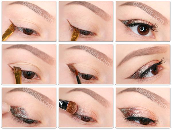 Как сделать в глаз макияж если нет век 38
