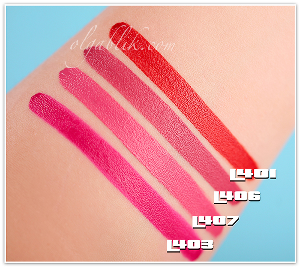 Ellis Faas Hot Lips Lipsticks Collection, Review, Photos, Swatches, Отзывы, Фото, Помада