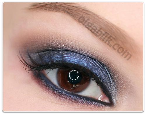 Как сделать макияж синего цвета