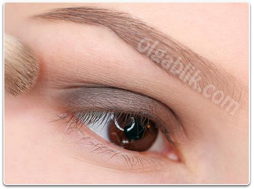 Как сделать макияж коричневыми тенями