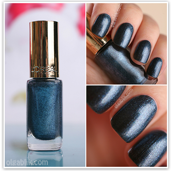 Лак для ногтей L'Oreal Paris Color Riche 844 RocknRoll Denim , Reviews, Photos, Отзывы, Фото