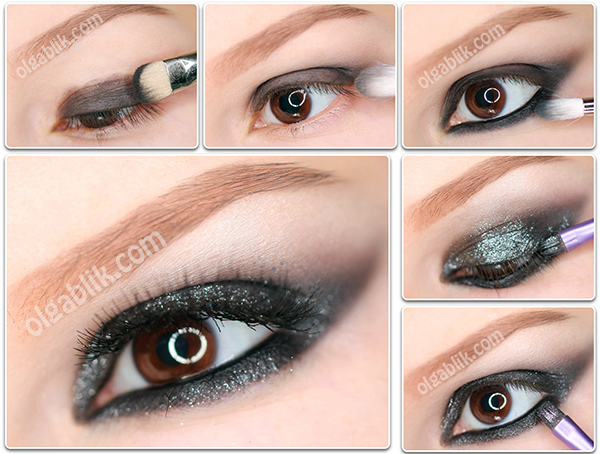New Years Makeup#2. Shimmery Smokey Eye Tutorial.