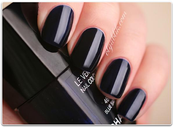 Лак для ногтей Chanel Le Vernis Nail Colour 461 Blue Satin Review, Photos, Swatches. Отзывы. Фото.