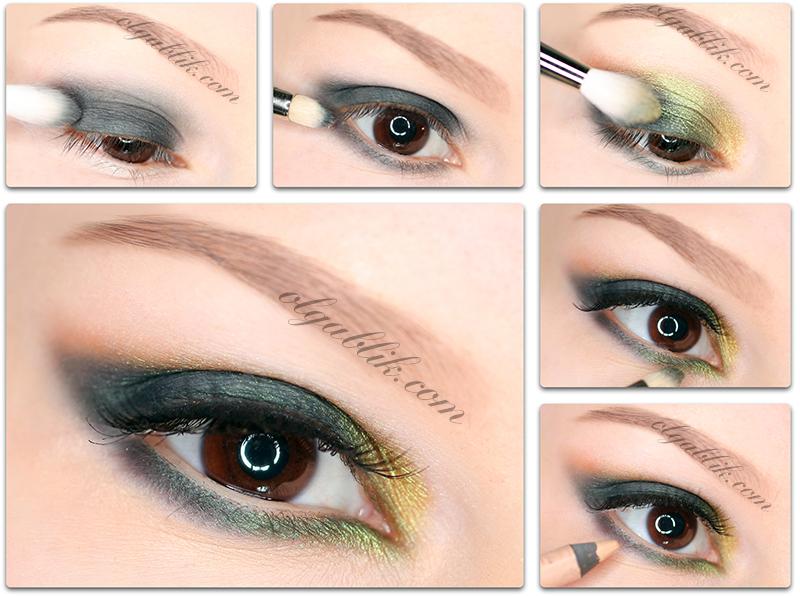 Как создать макияж с зелеными тенями хамелеон