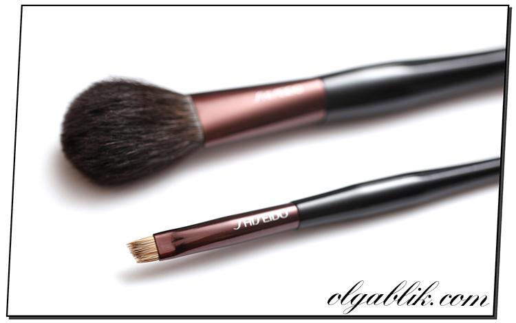 Shiseido Make-up Brushes, Blush Brush & Eyebrow and Eyeliner Brush, кисть для румян, кисть для подводки