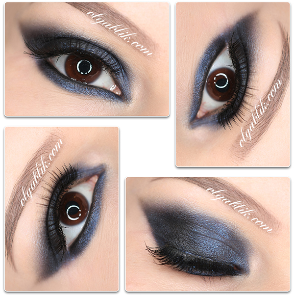 Синие тени в макияже глаз